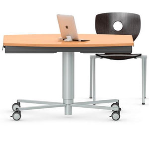 RONDOLIFT-KF - Barrel Top Model 2829 Classroom Table, Multipurpose Table, Height Adjustable Table VS America