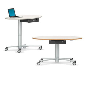 RONDOLIFT-KF Elliptical Top Model 2828 Classroom Table, Multipurpose Table, Height Adjustable Table VS America