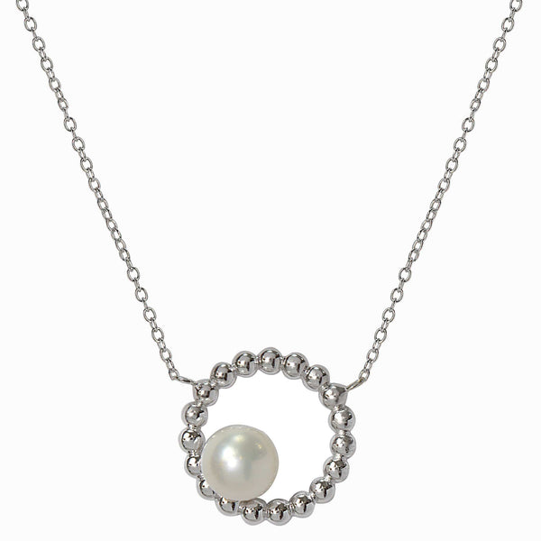 Round Floating Pearl Necklace