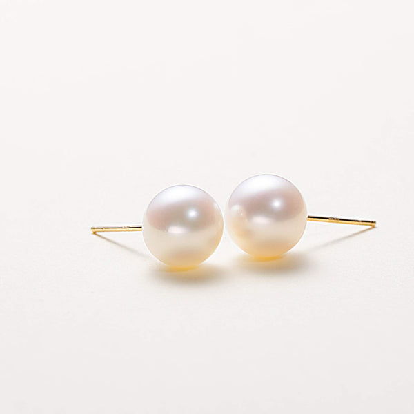 Gold Freshwater Pearl Stud Earrings