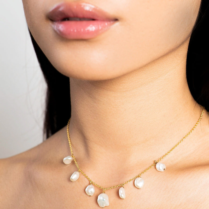 Golden Luxe Baroque Pearl Necklace