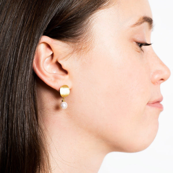Rising Sun Drop Stud Earrings