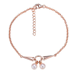 Rock and Roll Rose Gold Pearl Bracelet