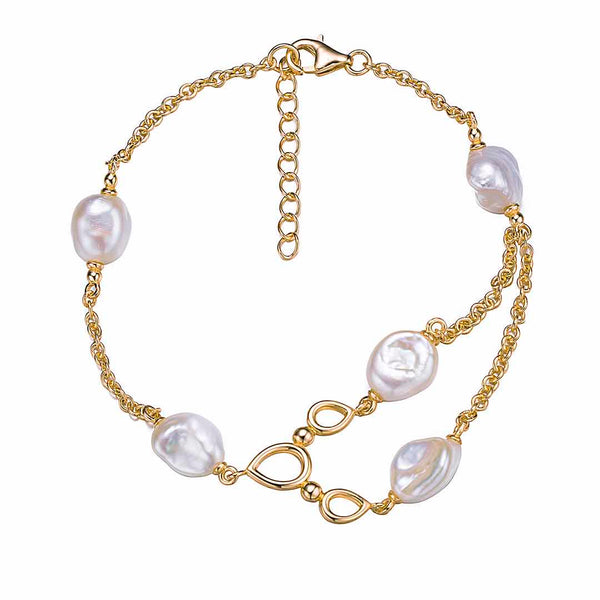 Gold Pearls of the Sea Bracelet