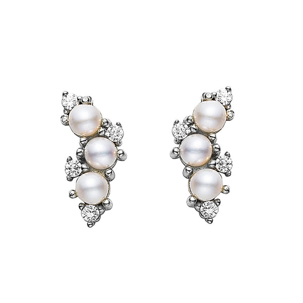 Organic Crystal and Pearl Earrings