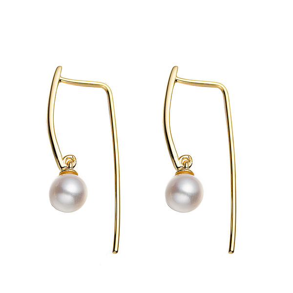 Bright Pearl Drop Earrings