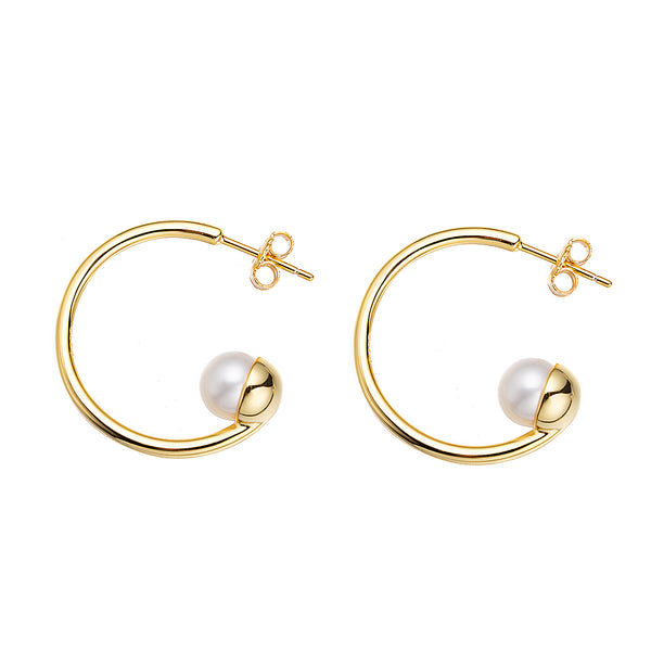 Pearl Cup Earrings