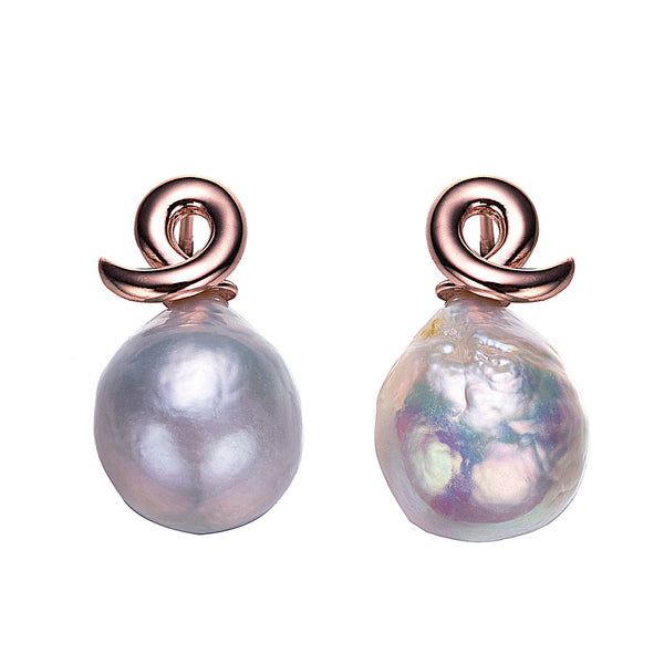 Rose Gold Altlantis Edison Pearl Earrings