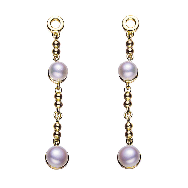 The Librarian Gold Pearl Drop Earrings