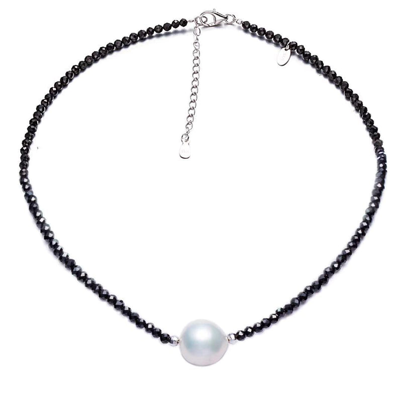 Black Spinel Edison Pearl Necklace