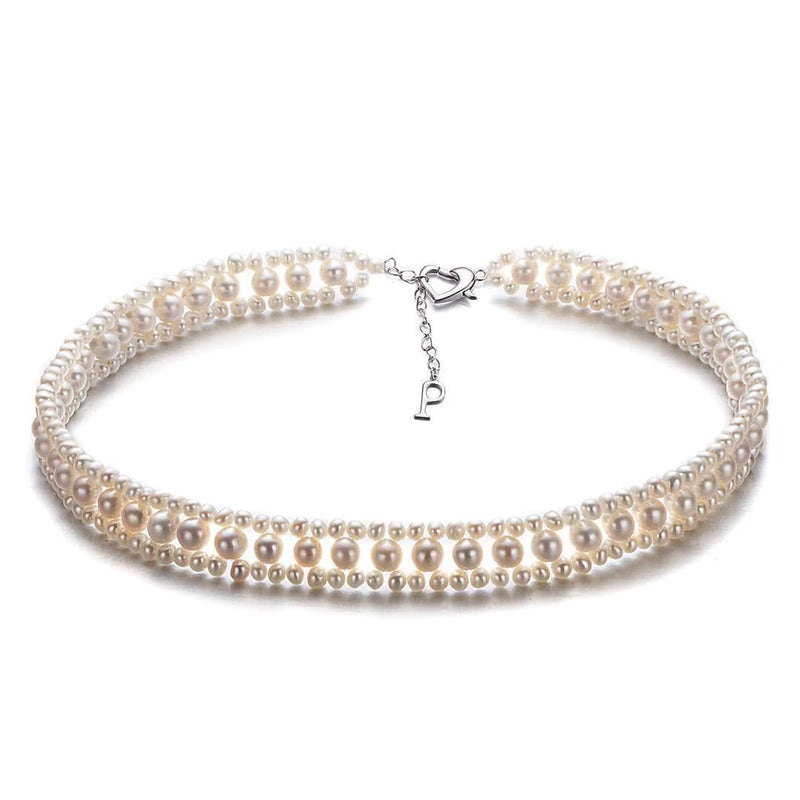 Silver Pearl Wrap Necklace