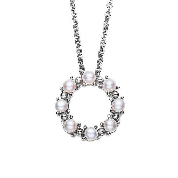 Silver Circle of Trust Pearl Pendant