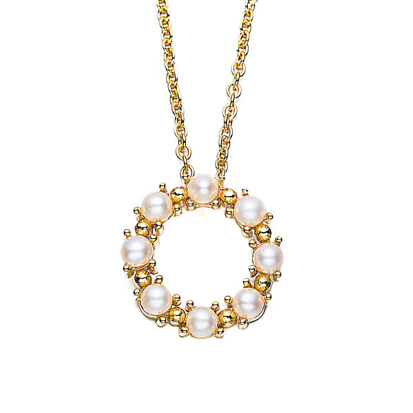 Gold Circle of Trust Pearl Pendant