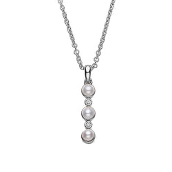 Three Button Pearls Necklace