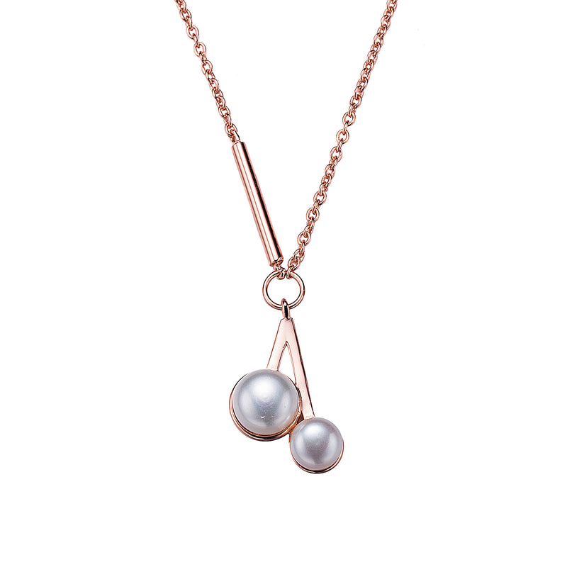 Pearls to My Heart Rose Gold Necklace