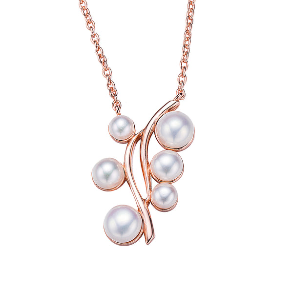 Designer Rose Gold Pearl Necklace
