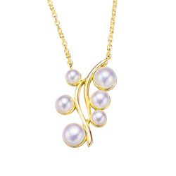 Designer Gold Pearl Necklace