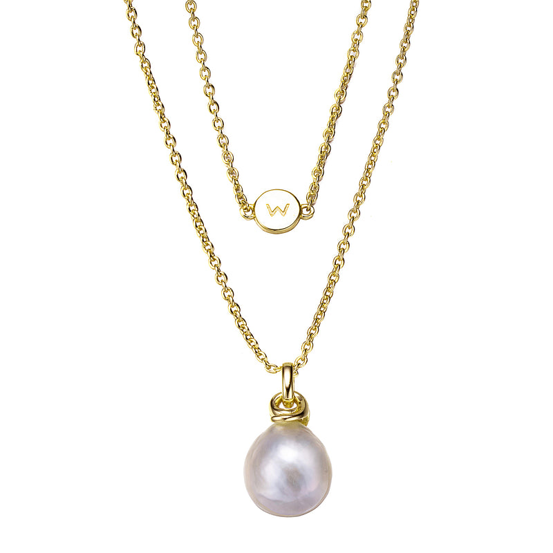 Gold Atlantis Edison Pearl Necklace