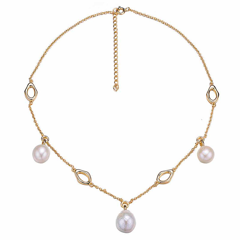 Gold Pearls of the Sea Choker Necklace