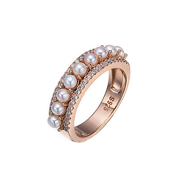 Button Pearl Ring