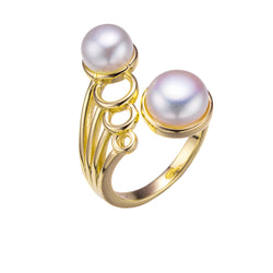 Gold In Orbit Pearl Ring