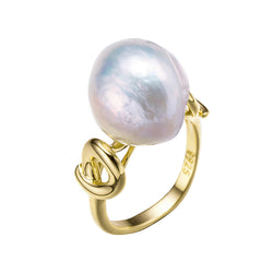 Gold Atlantis Edison Pearl Ring