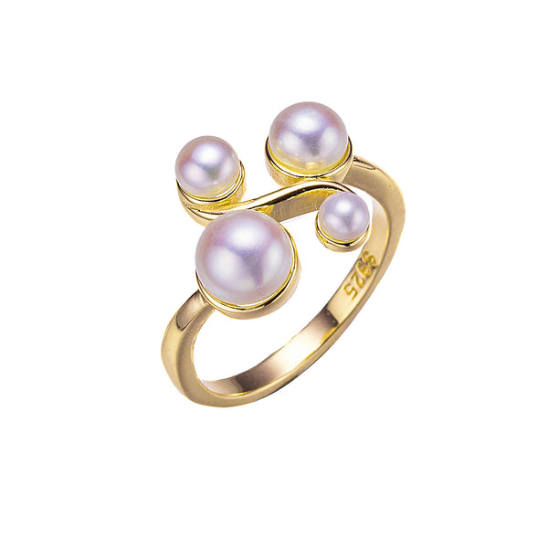 Gold Quad Pearl Ring