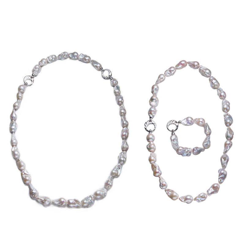 Freshwater Baroque Pearl Set NYC