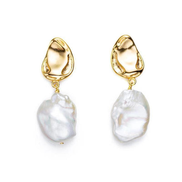 Sculpted Keshi Pearl Earrings