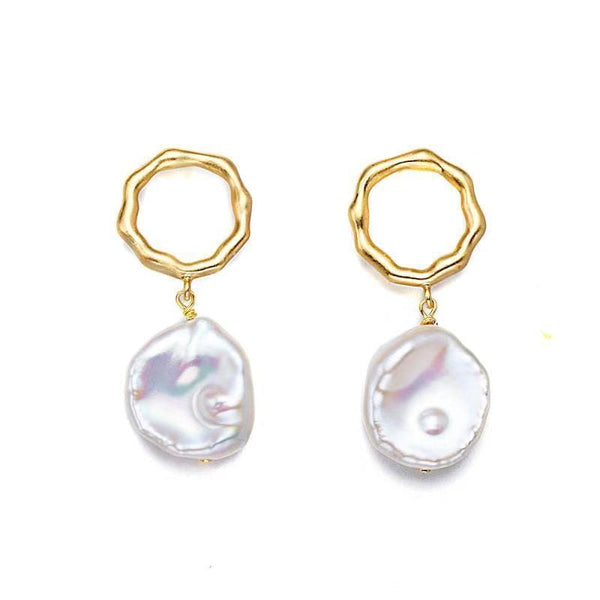 Of The Nile Pearl Hoop Earrings