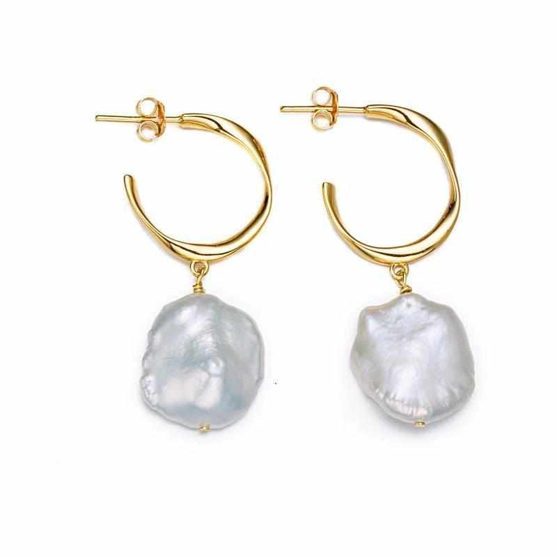 Gilded Pearl Earrings