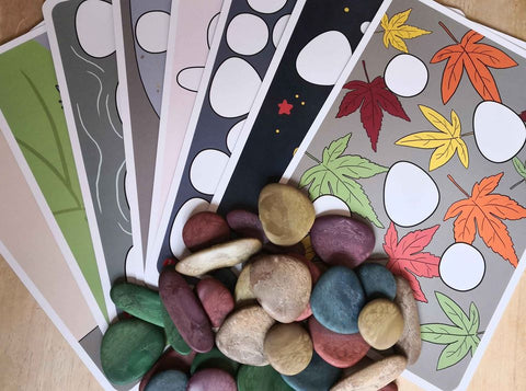 Eco friendly junior rainbow pebbles