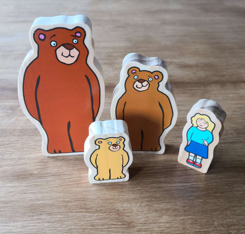 Goldilocks and the three bears characters