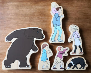 Bear Hunt Characters wooden