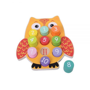 Owl blocks with numbers-Squidling Toys
