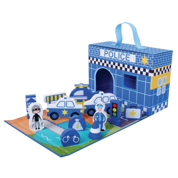 Foldaway police station-Squidling Toys