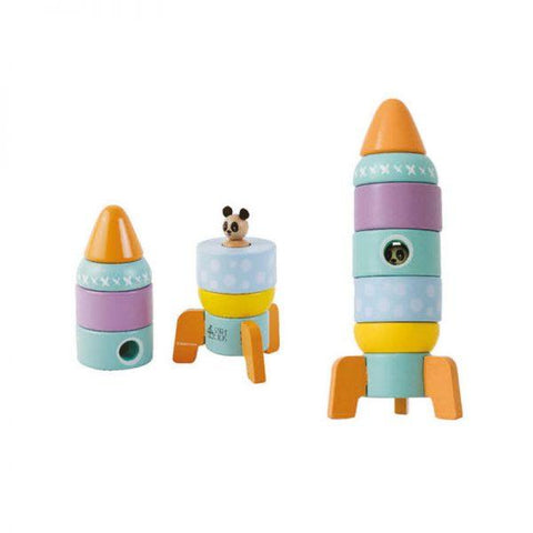 wooden rocket ship - Educational toys