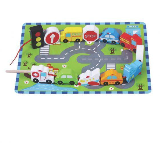 Traffic lacing game-Squidling Toys