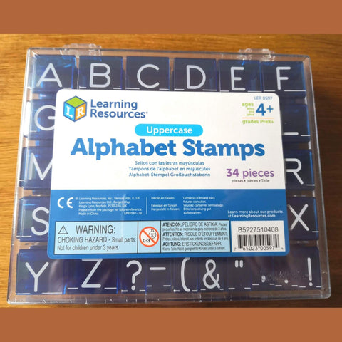 Uppercase Alphabet Rubber Stamps