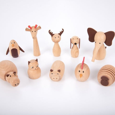 Wooden Animal Friends - Pk10