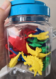 Dinosaur counter jar