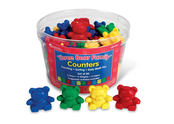 Three Bears counters - 4 colours 80 counters
