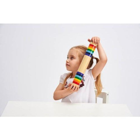 Wooden rainbow rainmaker-Squidling Toys
