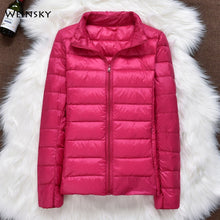 Charger l'image dans la galerie, Winter Women Ultralight Thin Down Jacket White Duck Down Hooded Jackets Long Sleeve Warm Coat Parka Female Portable Outwear