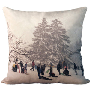 "INVENTORY SALE | Snowday Pillow | 24"" x 24"" 