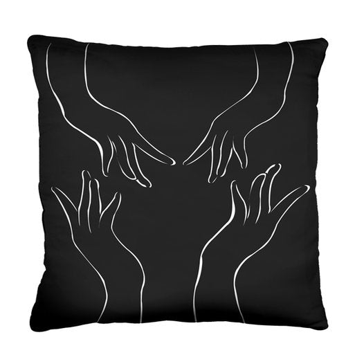 Graceful Pillow from the Noir Pillow Collection | Multiple Sizes Available