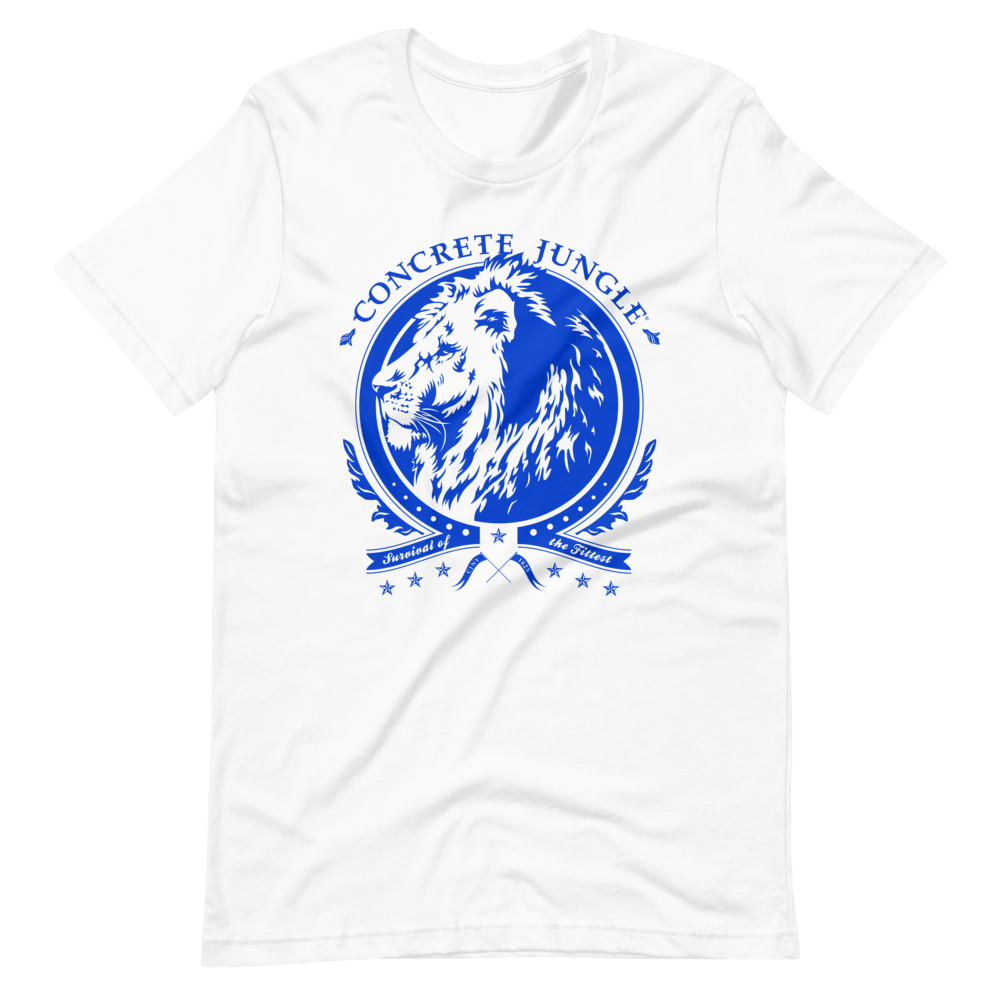 Lion Insignia Tee - Blue Graphic