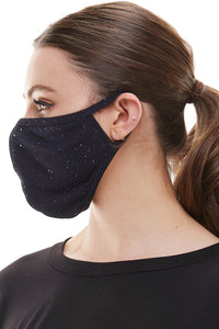 Fashion mask ear loop washable reusable black burgundy fabric face