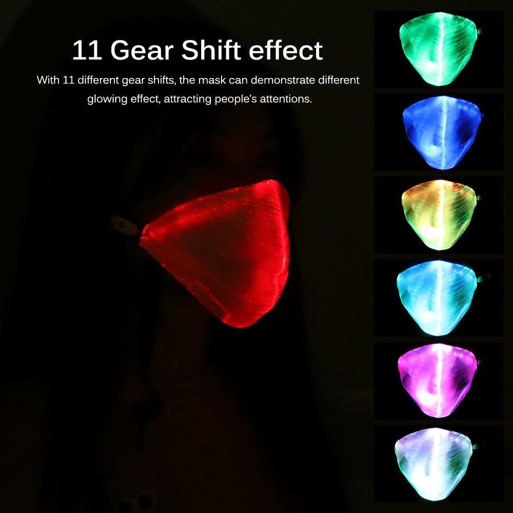 LED Dust Mask Rechargeable Luminous LED Mask