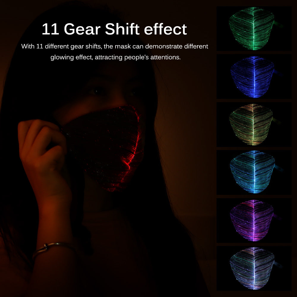 7 Colors LED Dust Mask Rechargeable Luminous lines edition